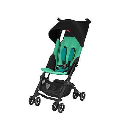 GB Pockit Plus Lightweight Ultra Compact Fold Travel Stroller Laguna Blue New!!