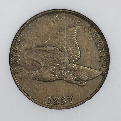 1857 Flying Eagle 1C Rev Die Clash w/ 25C FS-901 S-8 (FS-005) NGC XF-40