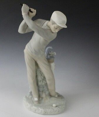 Retired LLADRO Spain Golfer Player Golf Club Man 4824 Porcelain Figurine NR DKW