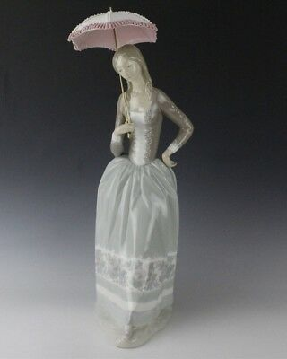 Retired LLADRO Spain Woman With Umbrella Parasol 4805 Porcelain Figurine NR LSP