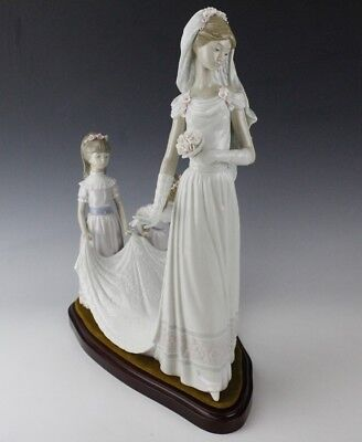 LLADRO Spain Here Wedding Group Comes The Bride 1446 Porcelain Figurine NR LSP