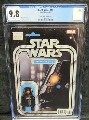 Darth Vader #23 (2016) BT-1 Action Figure Variant CGC 9.8 White Pages CM1142