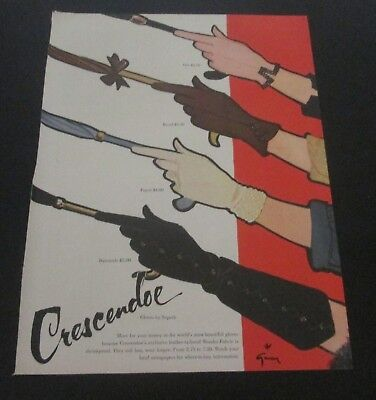 1953 original ad Cresendo Ladies Gloves