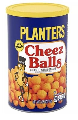 Planters Cheez Balls Cheese Snack New Release LOT OF TWO (2)FRESH CANS! L@@K