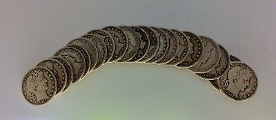 Roll (20) Barber Half Dollars - Full Dates  - Better Condition