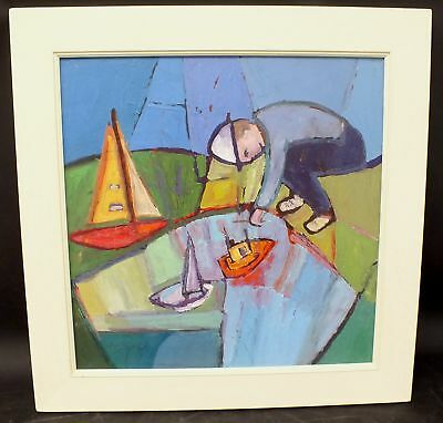 "IMOF-CARDINAL ""Petit Masin"" Large Original Abstract Oil Painting In Frame - G31"