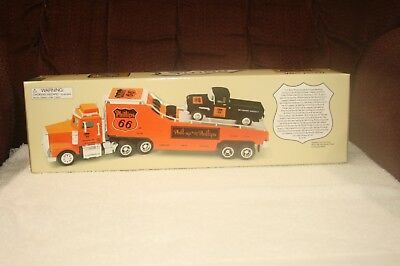 Phillips 66 1999 Credit Card Edition CAR CARRIER TRUCK WITH PICKUP TRUCK