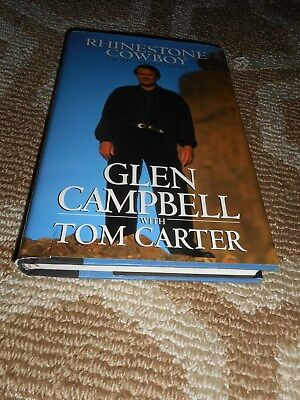 Glen Campbell Signed Book TO MICHAEL MIKE Rhinestone Cowboy Singer Autograph
