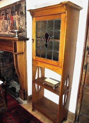 Arts and Crafts Bookcase - Wylie and Lochhead -  Antique Glazed Bookcase
