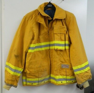 FYREPEL Firefighter Turnout Gear Bunker Padded Jacket Yellow Size X-LARGE