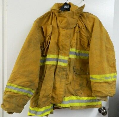 FYREPEL Firefighter Turnout Gear Bunker Padded Jacket Yellow Size LARGE