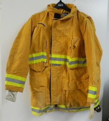 FIRE-DEX Turnout Gear Firefighter Bunker Padded Jacket Yellow 44x35