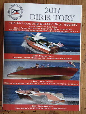 2017 Directory Antique & Classic Boat Society.  Vintage Wooden chris craft etc