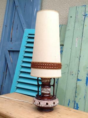 Vintage West German Fat Lava Lamp With Shade 1960's Lamp Retro Floor Lamp Chic