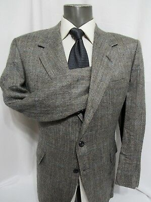 Oxxford Clothes Mens Gray Vintage Silk Sport Coat 40R Made Neiman Marcus