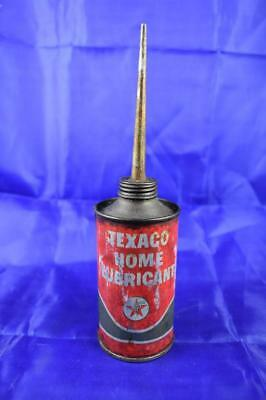 Vintage Texaco Home Lubricant oil can (empty)