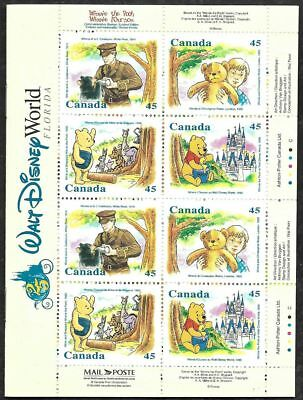 CANADA 1996 DISNEY WINNIE THE POOH Complete Booklet of 16 MNH Stamps