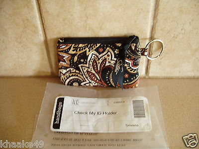 Longaberger Sisters Timeless Photo Id Holder With Key Ring Nip * Free Shipping
