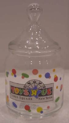 Toys R Us Times Square New York City Glass Candy / Cotton Ball Jar 2001 Rare