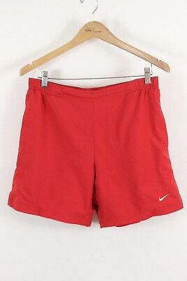 Nike Mens Team Fit Dry Red Lined Athletic Shorts Size Medium M