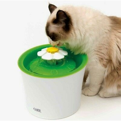 Catit Flower Fountain 3L Drinking Fountain with Triple-Action Filter