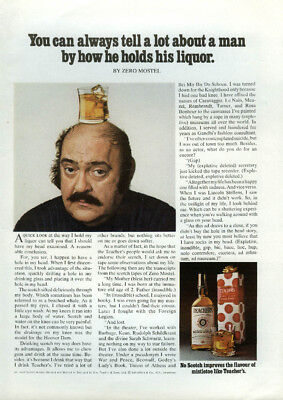 Zero Mostel for Teacher's Scotch ad 1974