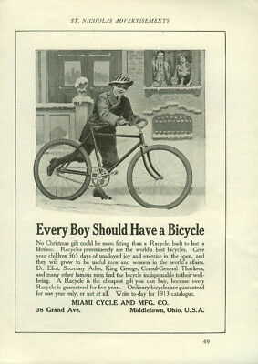 Every Boy Should Have a Bicycle Miami Cycle Middletown OH ad 1912