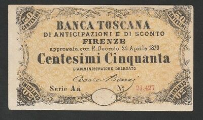 50 Cents From Italy 1870 XF