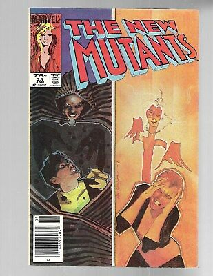 NEW MUTANTS#23 1985 early Cloak & Dagger Canadian Newstand Variant 75 cts VF 8.0