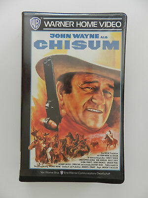 VHS Video Kassette Chisum John Wayne Warner Home