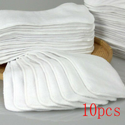 10pcs Reusable Baby Cloth Diaper Nappy Liners insert 2 Layers Cotton comfortble