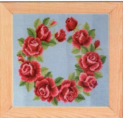Tapestry/ Needlepoint chart. Rose Garland