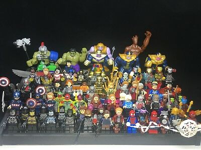 Marvel Avengers 4 Infinity War Spider Man Thanos Custom Fit Lego Mini figure toy