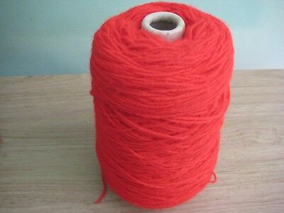 Cone of double knit machine / hand knitting wool/yarn Red 290 gm