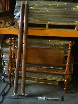 "ANTIQUE ROPE BED w/ ACORN TOPPED POSTS 69"" LONG x 44"" WIDE"
