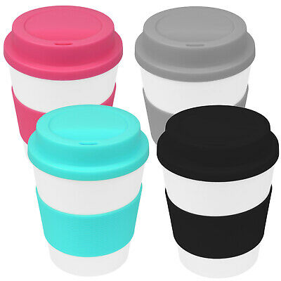 4er Set Coffee to go Kaffee Tee Becher Trinkbecher Silikonring Kaffeebecher