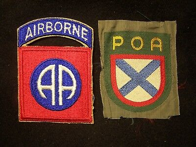 Two Very Rare  Original Wwii  Sleeve Shield And Airborne Patch