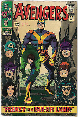 "1966. ""The AVENGERS"". Marvel comic Vol.1 #30. Silver Age. VG minus."