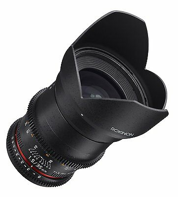 Rokinon Cine DS 35mm T1.5 AS IF UMC Full Frame Cine Lens for Nikon - DS35M-N
