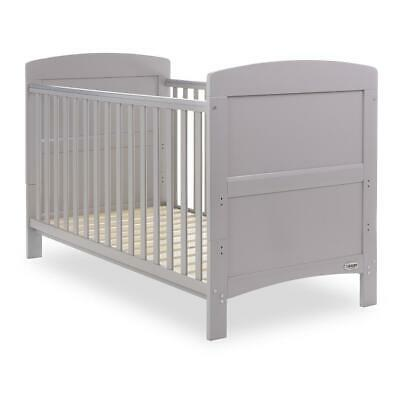 Obaby Grace Cot Bed (Warm Grey) - Suitable From Birth