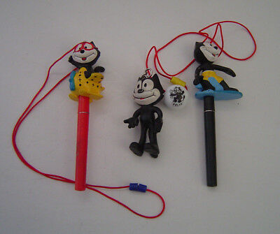 Felix The Cat Lot 2 Sunkisses Pens Airplane & Surfer , Key Chain & Marble