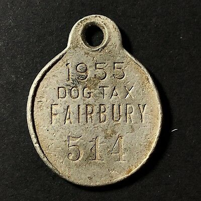 1955 Fairbury Nebraska Dog Tax Tag - 514