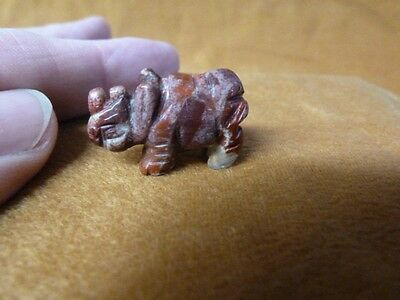 (Y-RHI-501) little RHINOCEROS RED JASPER I love Rhino baby gemstone FIGURINE