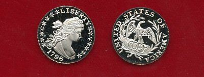 Us 1796 Silver  Dime (Gallery Mint Gem Frosted Proof Copy)
