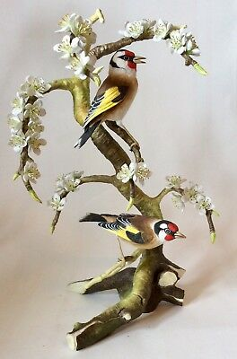 Connoisseur of Malvern Ashenden limited edition Goldfinches and Plum Blossoms