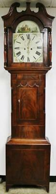Beautiful Antique C1820 Flame Mahogany 8 Day Striking Longcase Grandfather Clock