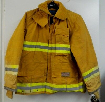 FYREPEL Firefighter Turnout Gear Bunker Padded Jacket Yellow Size LARGE #5