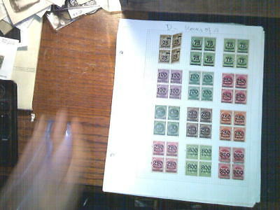 Germany Block Of 4 Collection, Both Mint An Used
