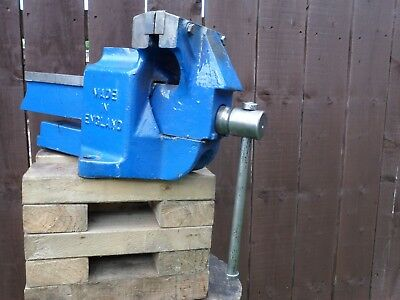 """Record 6"""" Heavy Duty Engineers Vice, model 112p in used but Good Condition"""