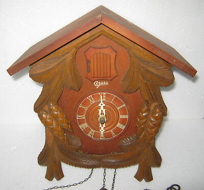 Vintage Cuckoo Clock. Swiss Azura Movement. For Spares Repair.